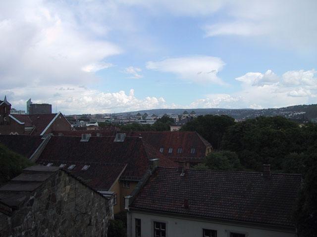 Начнем со столицы Норвегии — Осло. Окинем взглядом крыши невысоких домов, расположенных практически в самом центе города. Слева чуть вдали Вы видите здание гостиницы Radisson — пожалуй, самое высокое здание в Осло
