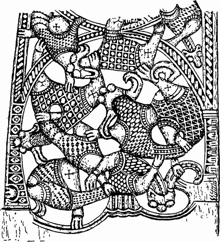 Плетеные орнаменты.звериный стиль