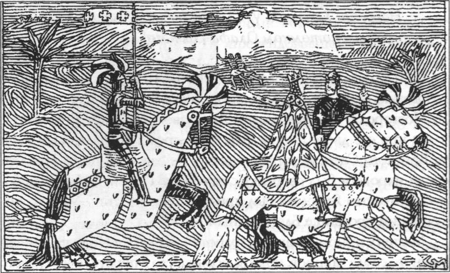 Сигурд Крестоносец и Балдуин I Иерусалимский на пути к реке Иордан