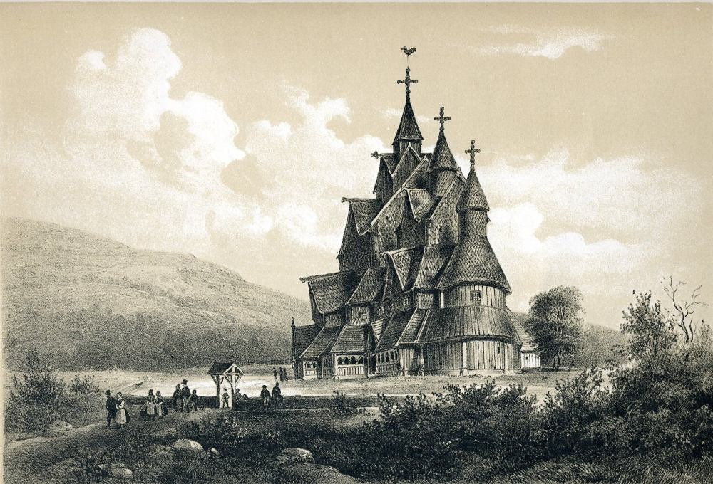 Крупнейшая деревянная церковь Норвегии — ставкирка Хеддал, 1848 г