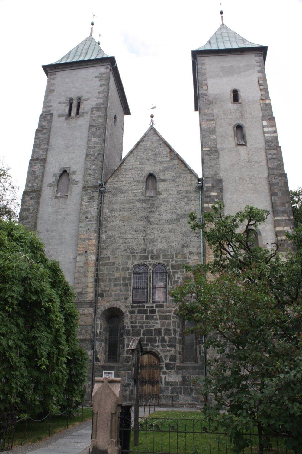 Романская церковь Святой Марии в Бергене построена из нескольких разновидностей мыльного камня