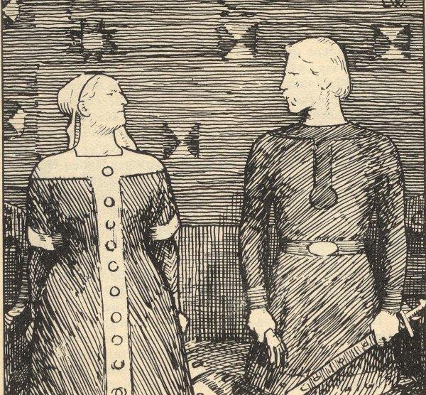 Олаф Трюггвасон и Сигрид Гордая, так и не ставшие супругами из-за религиозных разногласий